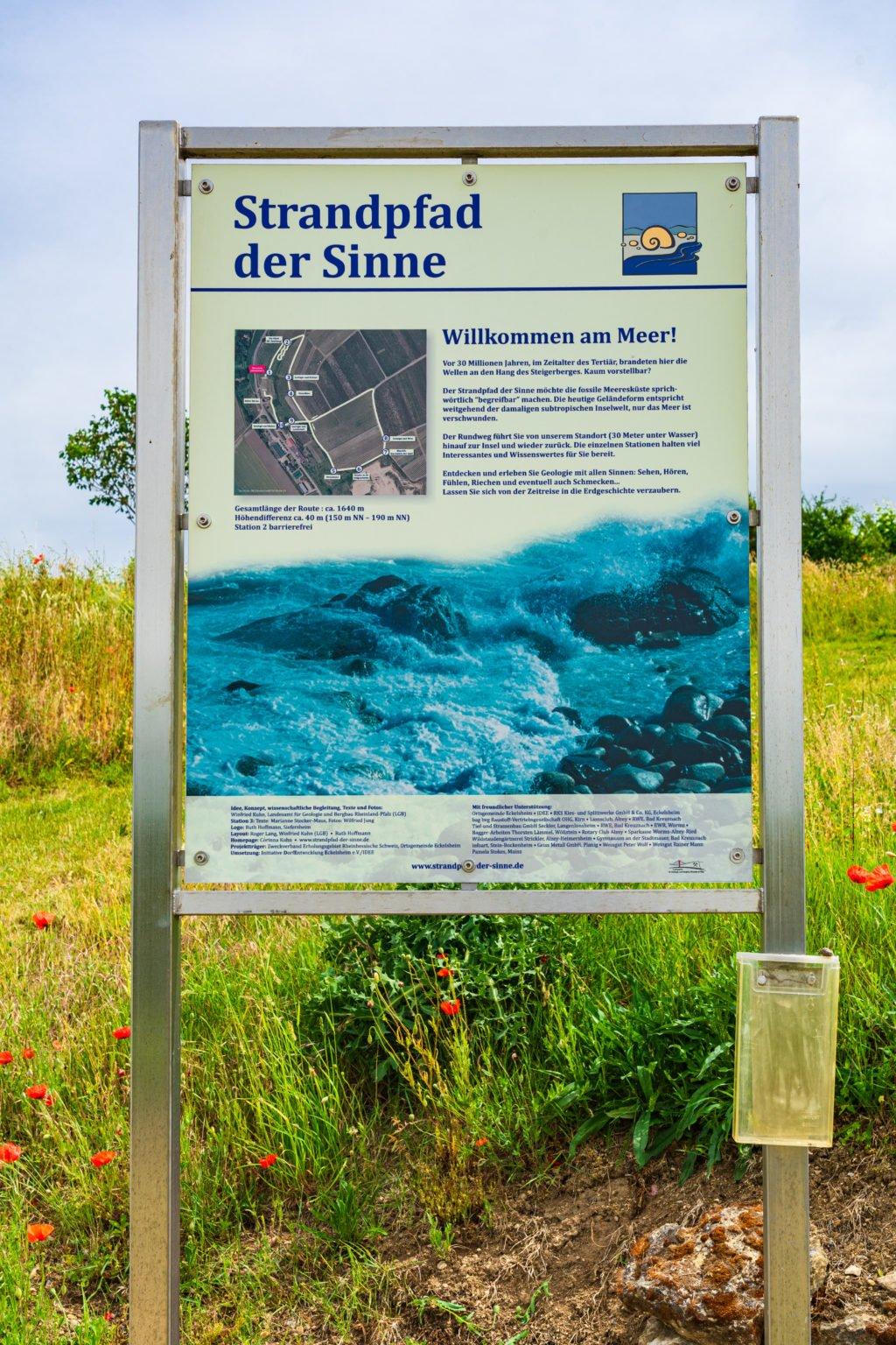 Themenweg Strandpfad der Sinne Station 1