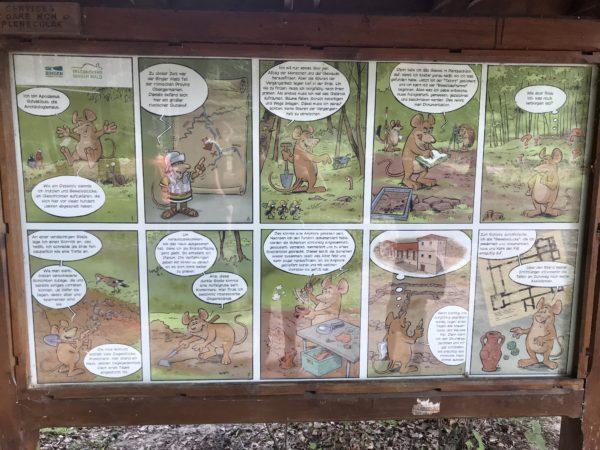 Geschichte auf dem Erlebnispfad Binger Wald anschaulich erklaert