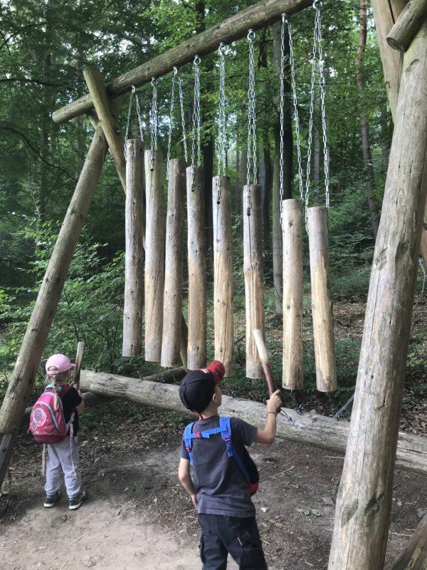 Wald-Xylophon auf dem Erlebnispfad Binger Wald