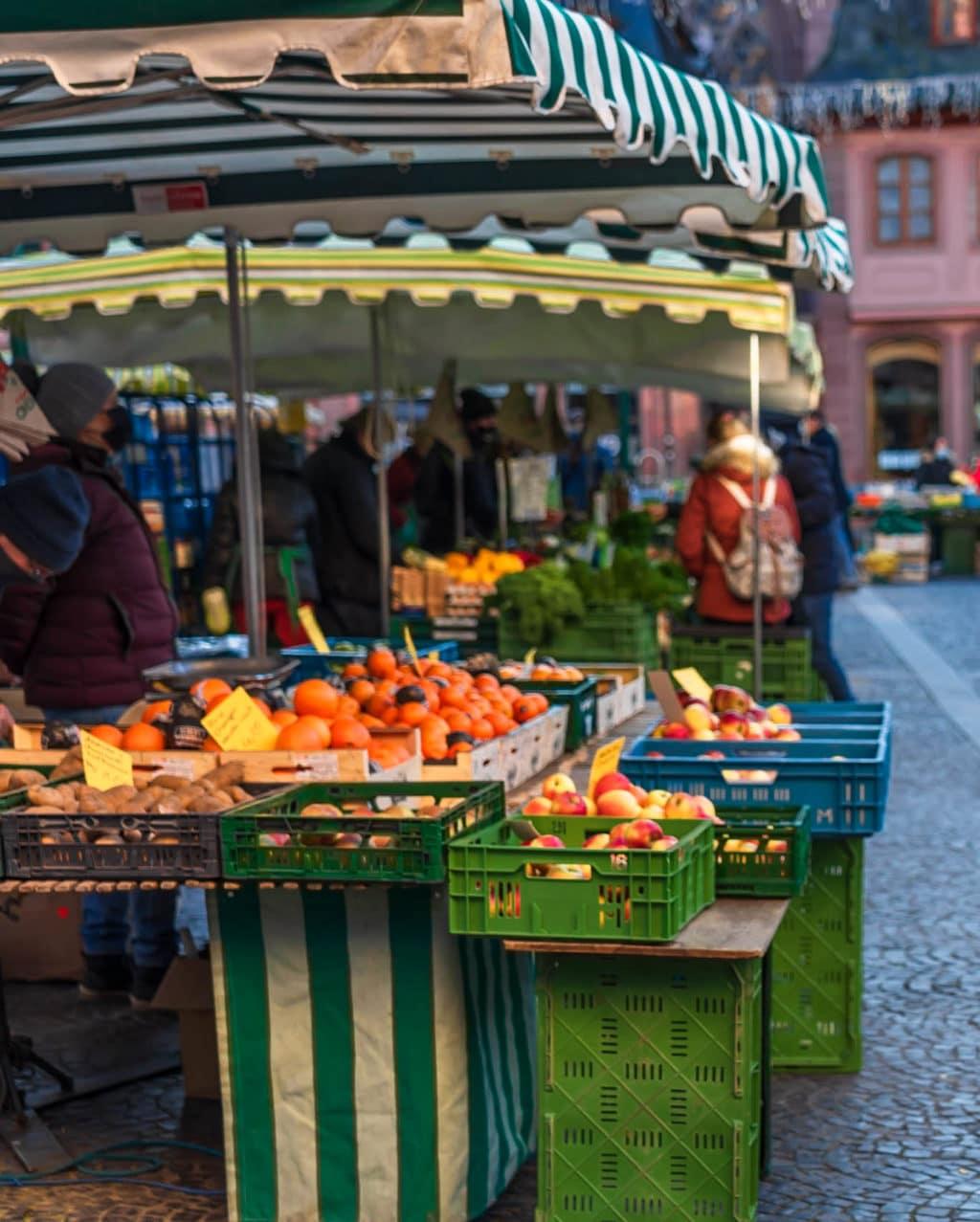 gemüse wochenmarkt mainz